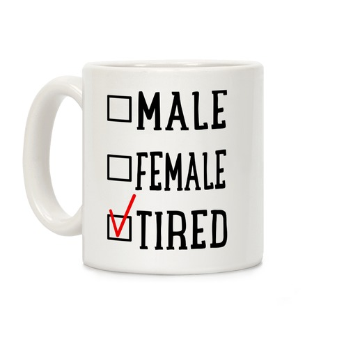 My Identity Is Tired Coffee Mug
