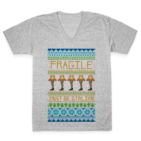 A Major Award Ugly Sweater V-Neck Tee Shirt