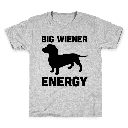 Big Wiener Energy Dachshund Kids T-Shirt