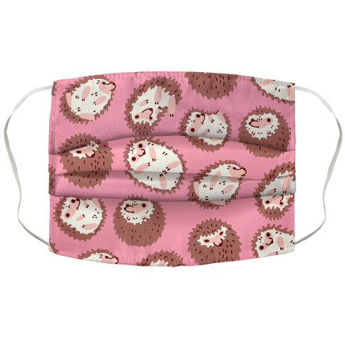 Floaty Hedgehogs Face Mask Cover