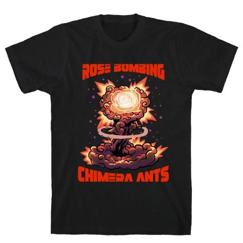 Rose Bombing Chimera Ants (Anime parody) T-Shirt