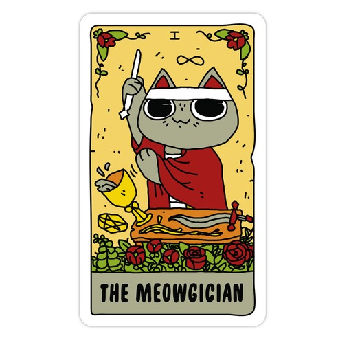 The Meowgician Die Cut Sticker
