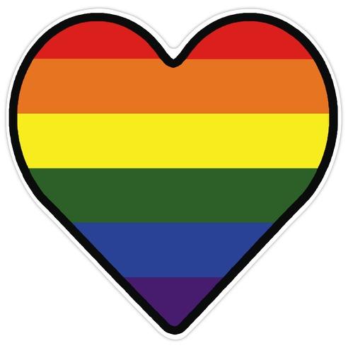 Rainbow Heart Die Cut Sticker