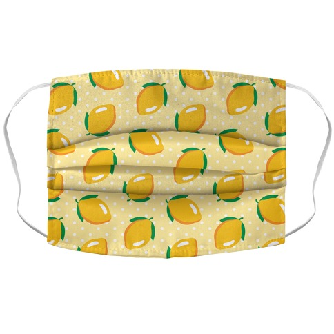 Whole Lemon Pattern Accordion Face Mask