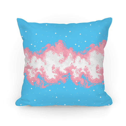 Psychedelic Nebula Trans Flag  Pillow
