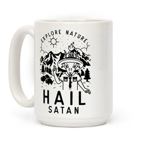 Explore Nature Hail Satan Coffee Mug