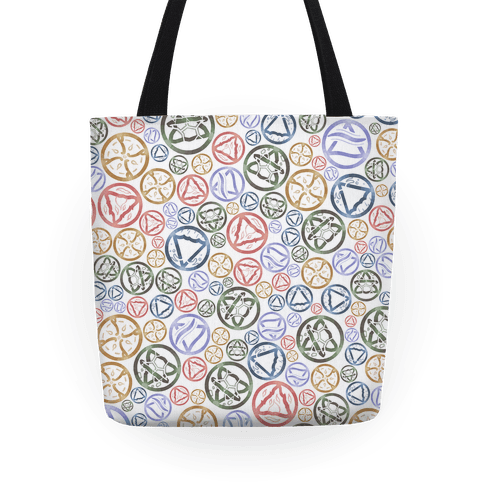 Witch's Elements Pattern Tote