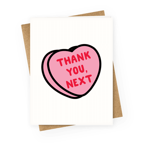 Thank You Next Pink Candy Heart Greeting Card