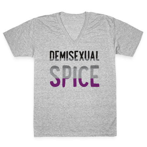 Demisexual Spice V-Neck Tee Shirt
