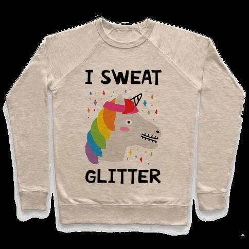 I Sweat Glitter Unicorn Pullover