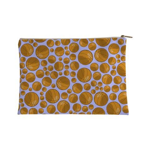 Basketballs Pattern Accessory Bag
