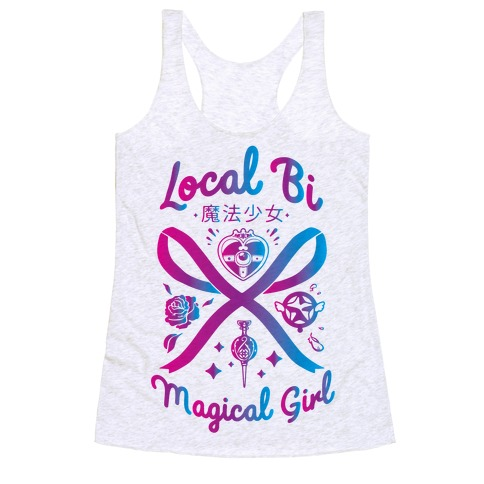 Local Bi Magical Girl Racerback Tank Top