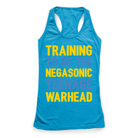 Training To Be The Negasonic Teenage Warhead White Print  Racerback Tank Top