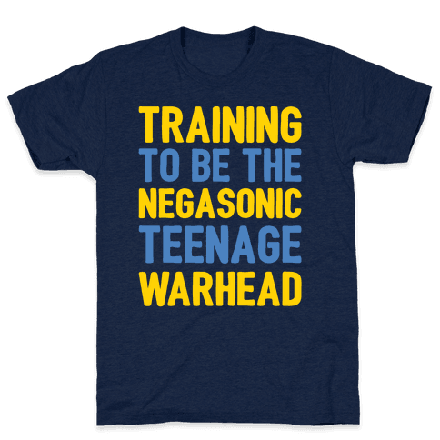 Training To Be The Negasonic Teenage Warhead White Print  Mens T-Shirt