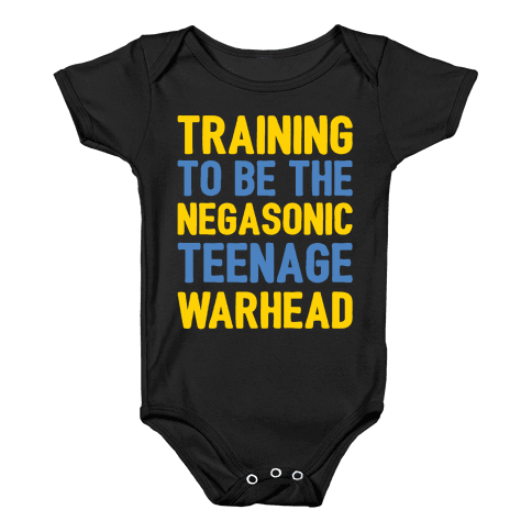 Training To Be The Negasonic Teenage Warhead White Print  Baby Onesy