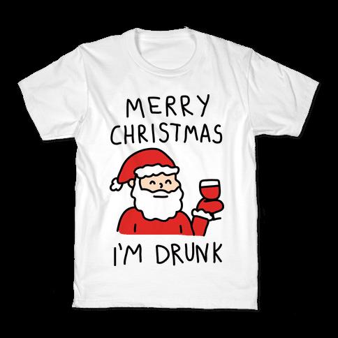merry christmas im drunk kids t shirt - Merry Drunk Im Christmas