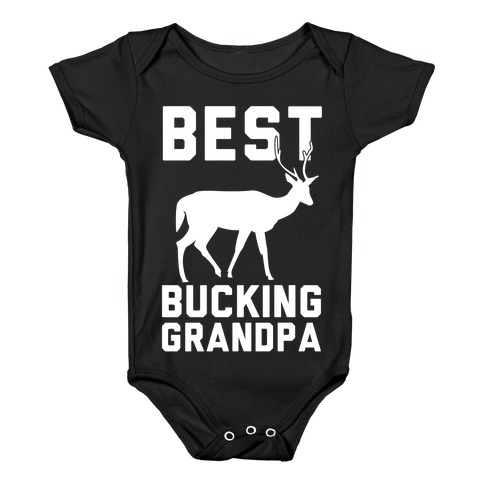 Best Bucking Grandpa Baby Onesy