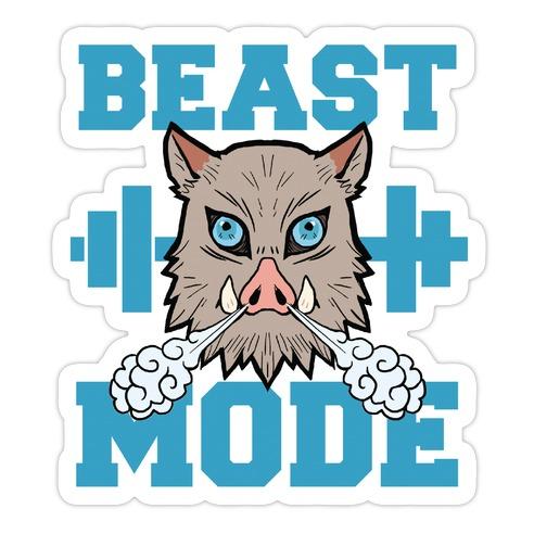 Beast Mode Inosuke Die Cut Sticker