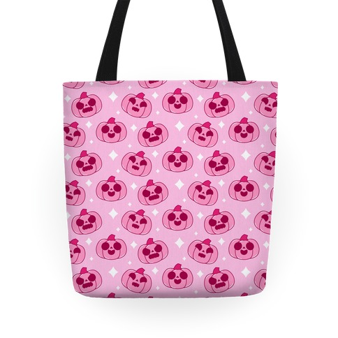 Kawaii Pumpkins Pattern Pink Tote