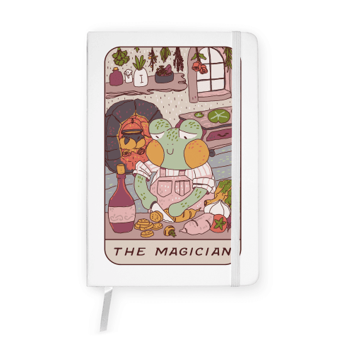 Cottagecore Magician Tarot Card Notebook