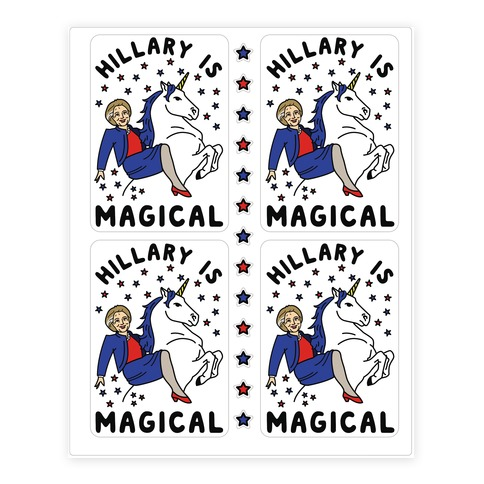 Hillary is Magical Sticker and Decal Sheet