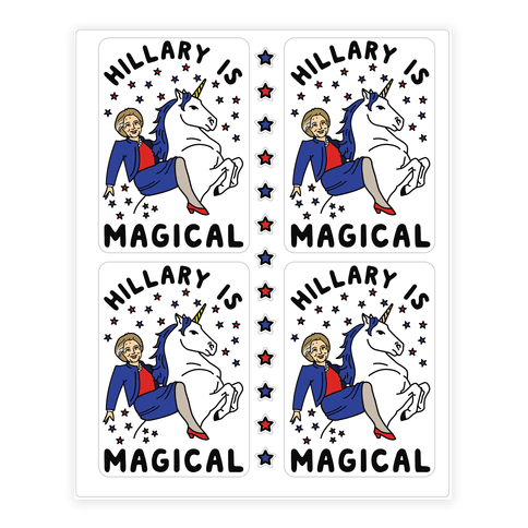 Hillary is Magical Sticker/Decal Sheet