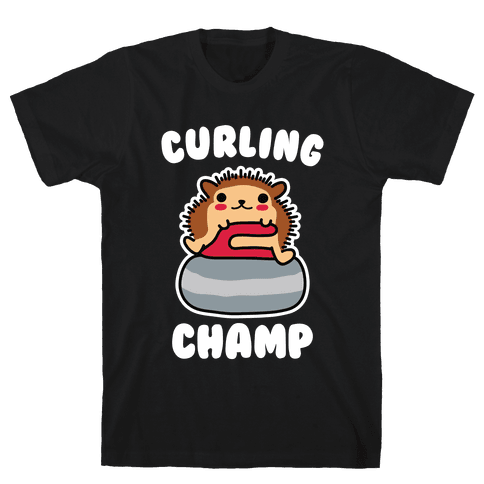 Curling Champ Mens/Unisex T-Shirt