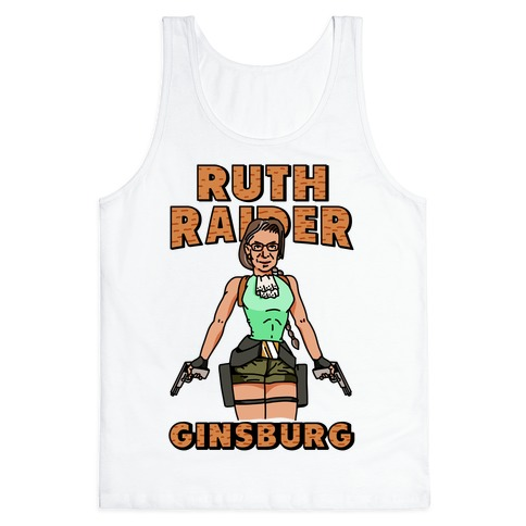 Ruth Raider Ginsburg Parody Tank Top
