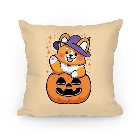 Cute Halloween Corgi Pillow