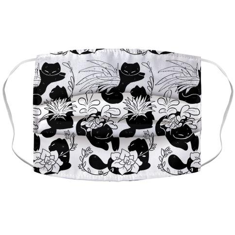 Succulent Cats Accordion Face Mask