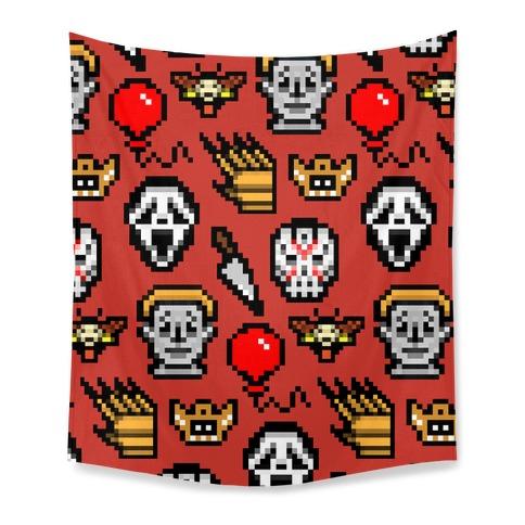 Slashers Pixel Pattern Tapestry