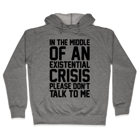 In The Middle Of An Existential Crisis Please Don't Talk To Me  Hooded Sweatshirt