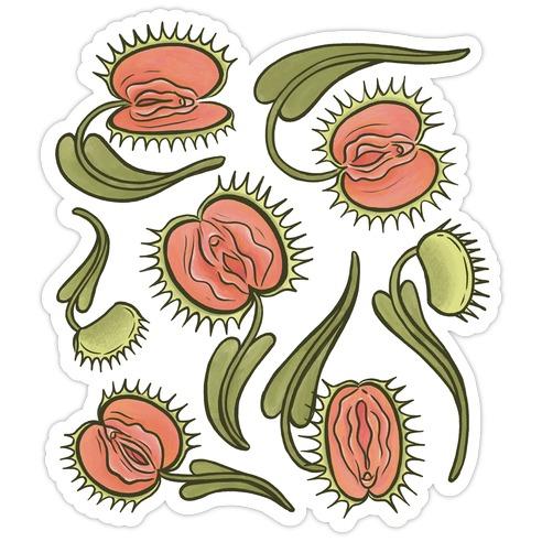 Venus Flytrap Vulvas Die Cut Sticker