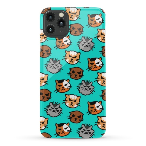 Angry Kitty Pattern Phone Case