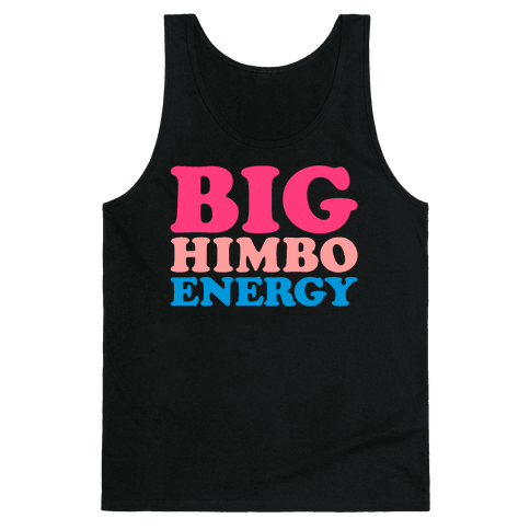 Big Himbo Energy White Print Tank Top