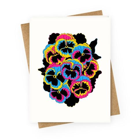 Pan-sy (Pansexual Pansies) Greeting Card