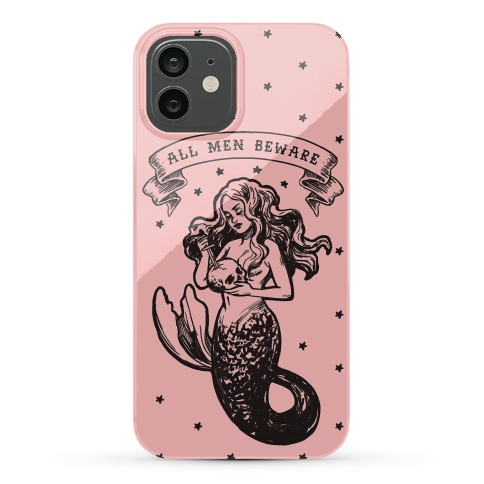 All Men Beware Vintage Mermaid Phone Case