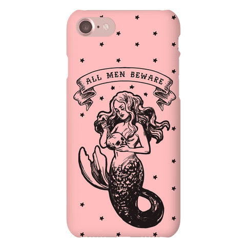 All Men Beware Vintage Mermaid Phone Case