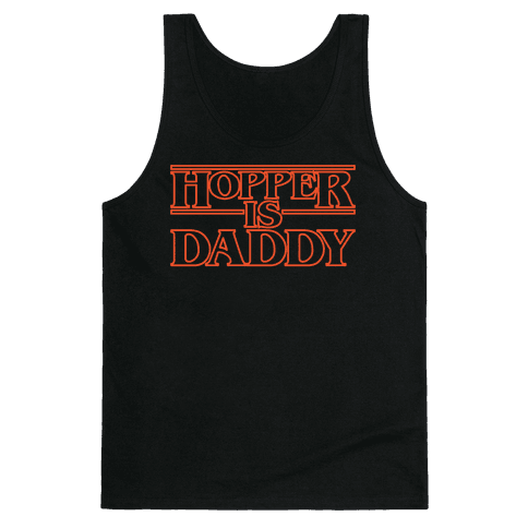 Hopper Is Daddy Parody White Print Tank Top