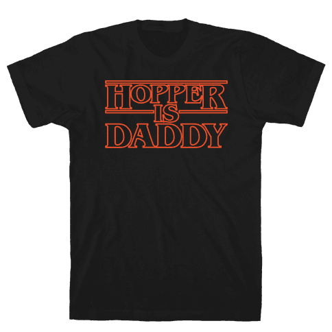 Hopper Is Daddy Parody White Print Mens T-Shirt