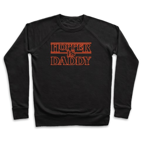 Hopper Is Daddy Parody White Print Pullover