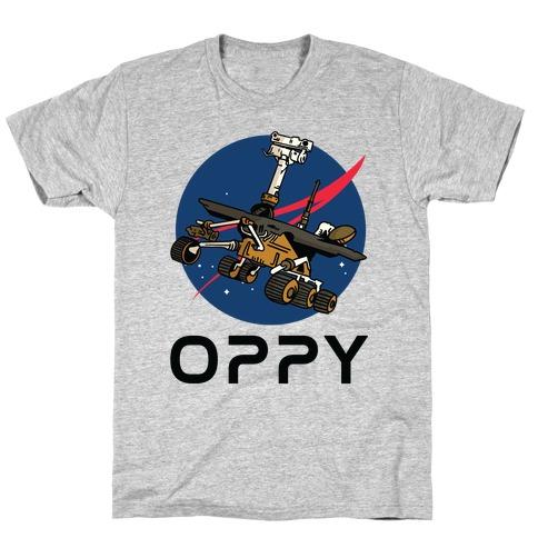 Oppy Nasa Parody Logo T-Shirt