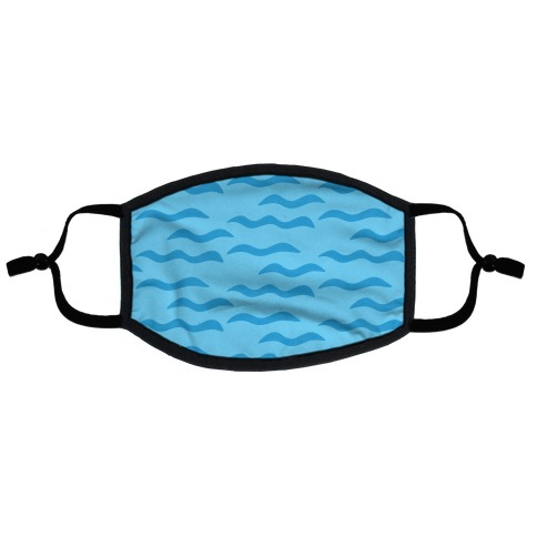 Calm Waves Flat Face Mask