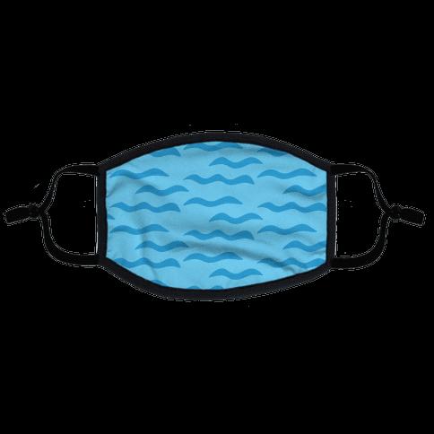 Calm Waves Flat Face Mask