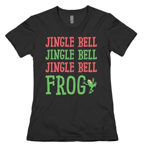 Jingle Bell Frog Womens T-Shirt