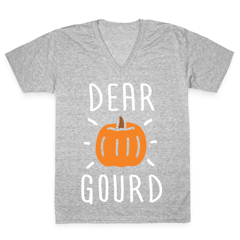 Dear Gourd V-Neck Tee Shirt