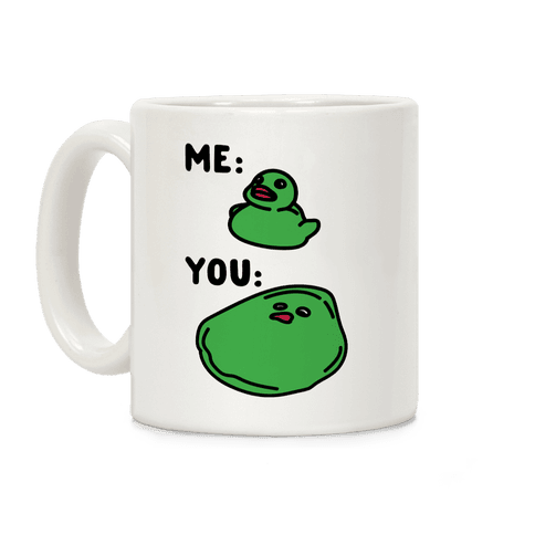 Me vs You Melting Ducky Meme Coffee Mug