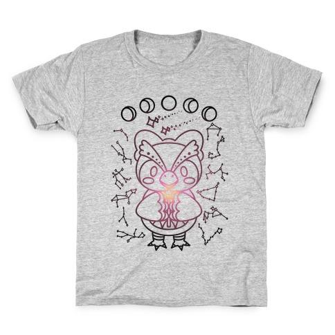 Celestial Astrology Owl Kids T-Shirt