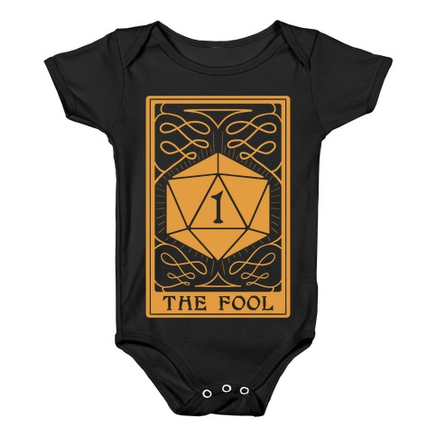 The Fool Nat1 Tarot Card Baby Onesy