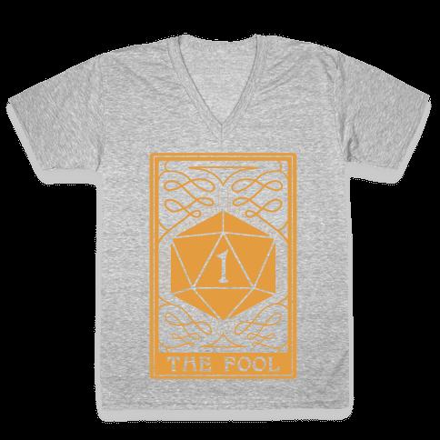 The Fool Nat1 Tarot Card V-Neck Tee Shirt